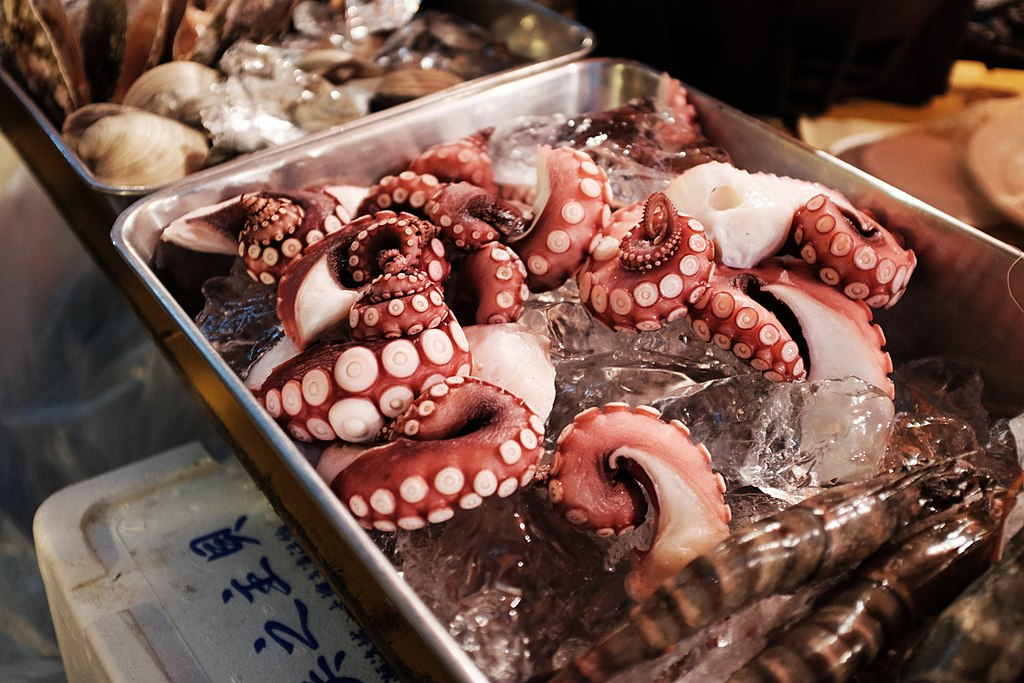 Seafood Market in Japan