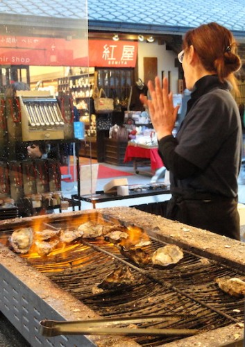 Grilled Oysters in Miyajima