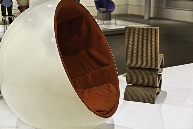 the ball chair by finnish designer eero aarnio