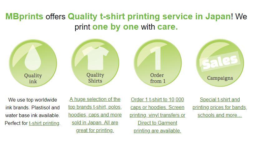 aca3514f MBprints T-shirt Print Shop Japan   H&R Group K.K.